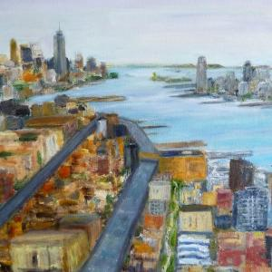 060 patricia meko painting hudson view