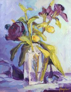 095 sandy taylor painting impression floral ii