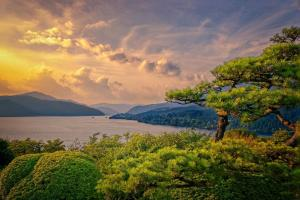 247 peter smejkal The View of Lake Hakone from the Mikado Palace Japan