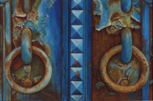 006 frank colaguori painting rusted blue