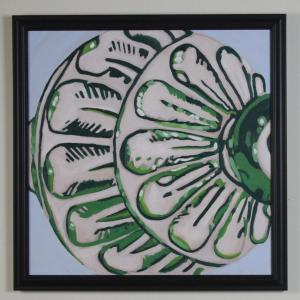 022 amanda garrell painting green ornament