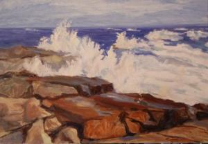 028 lynda guenther painting breaking waves