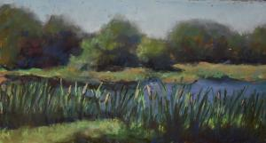 039 caroline klein painting cattails