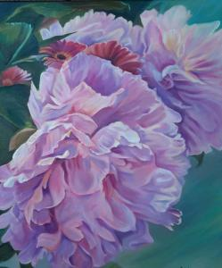 053 laura mandile painting peony bouquet