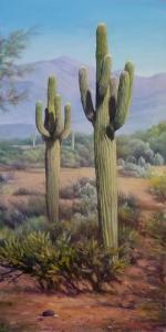070 Valerie Morone painting Sonoran Saguaro