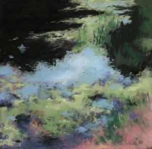 087 susan rickman painting water lilies